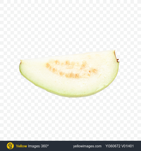 Download Guava Fruit Slice Transparent PNG on Yellow Images 360°