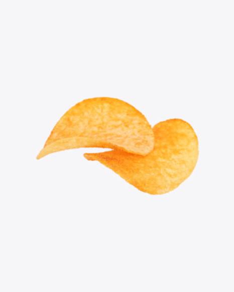 Two Potato Chips with Paprika