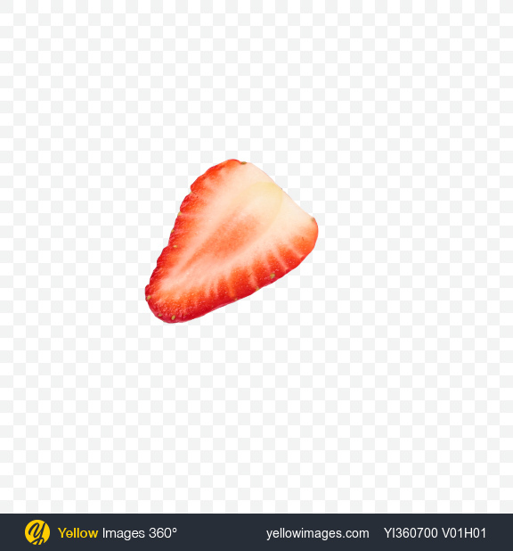 Download Half of Strawberry Transparent PNG on Yellow Images 360°