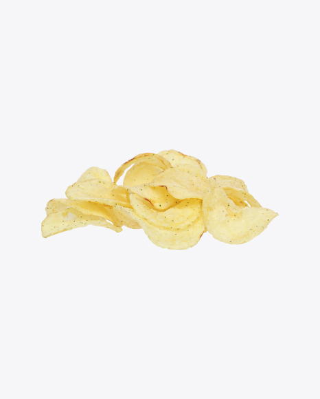 Bunch of Potato Chips with Herbs