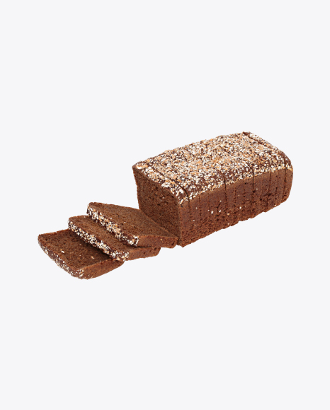 Sliced Loaf of Rye Bread with Cereals