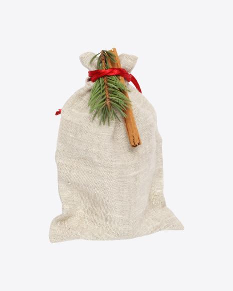 Christmas Linen Gift Bag