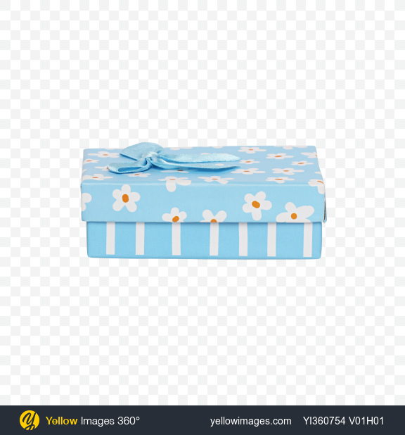Download Blue Gift Box with Bow Transparent PNG on YELLOW Images
