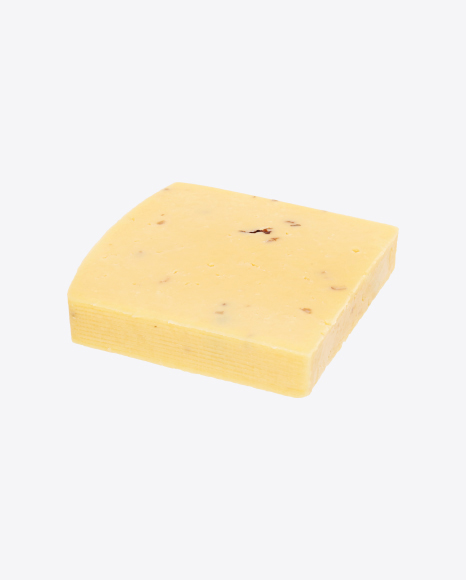 Block of Cheese with Walnut