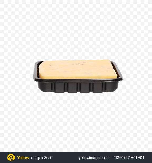 Download Block of Cheese with Walnut in Tray Transparent PNG on YELLOW Images
