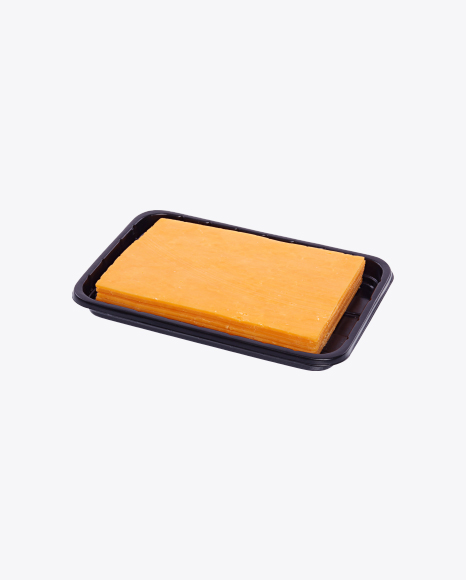 Cheddar Cheese Slices in Tray