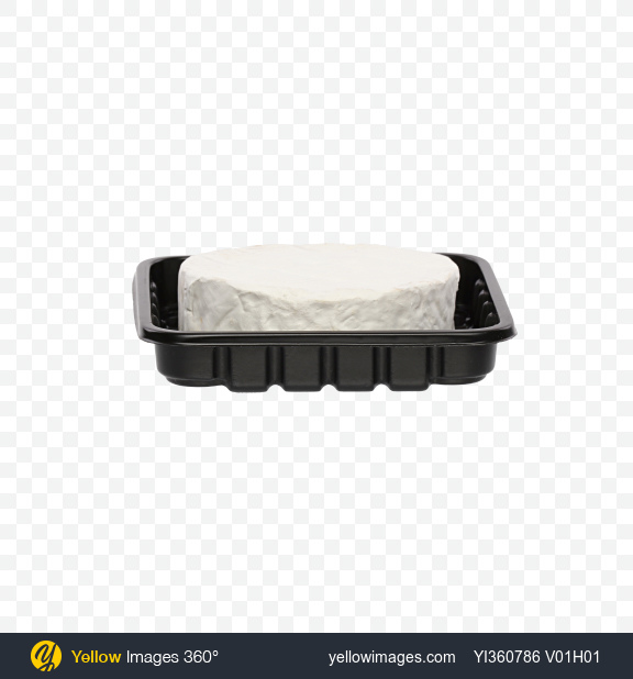 Download Camembert Cheese in Tray Transparent PNG on Yellow Images 360°