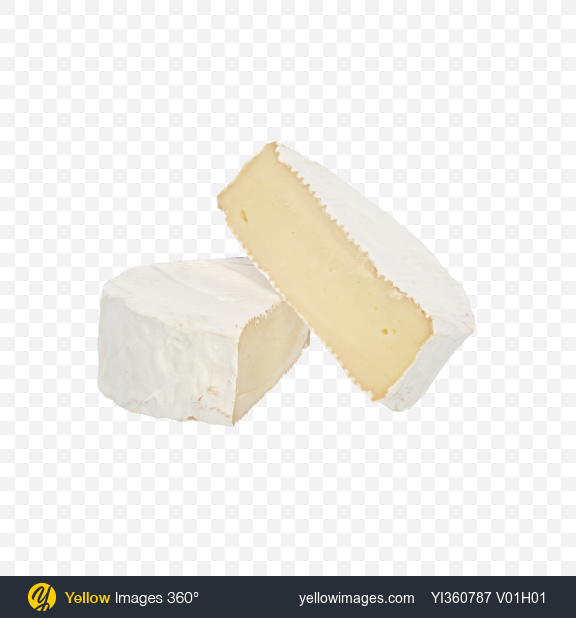 Download Two Camembert Halves Transparent PNG on Yellow Images 360°