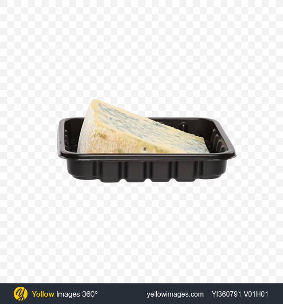Download Blue Cheese Triangle in Tray Transparent PNG on Yellow Images 360°