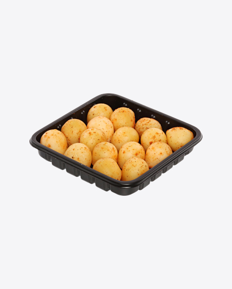 Smoked Cheese Balls with Paprika in Tray