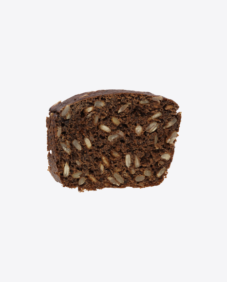 Slice of Rye Bread with Sunflower Seeds