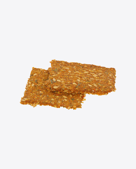 Two Carrot Crispbreads with Flax Seeds