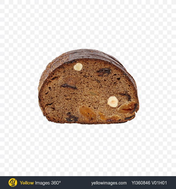 Download Sliced Bread with Dried Fruits and Hazelnuts Transparent PNG on YELLOW Images
