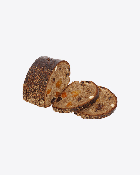 Slices of Bread with Dried Fruits and Hazelnuts