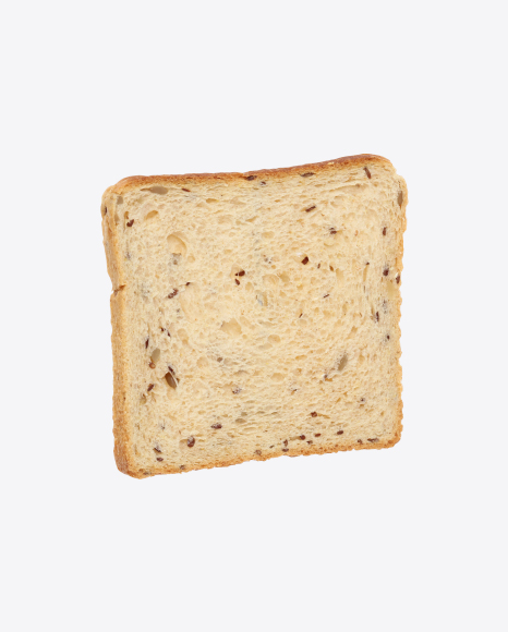 Slice of Wheat Sandwich Bread with Seeds