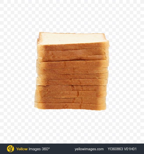 Download Slices of Wheat Sandwich Bread Transparent PNG on Yellow Images 360°