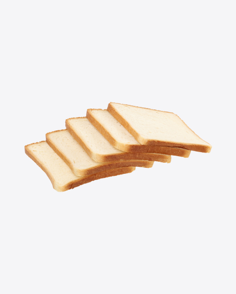Five Slices of Wheat Sandwich Bread
