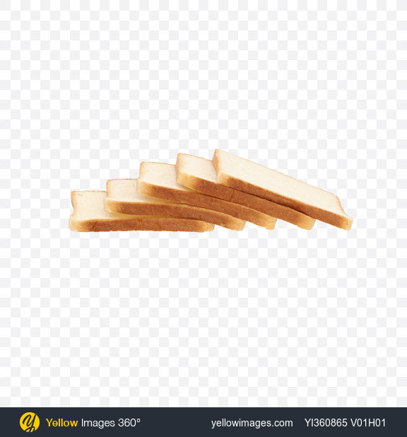 Download Five Slices of Wheat Sandwich Bread Transparent PNG on Yellow Images 360°