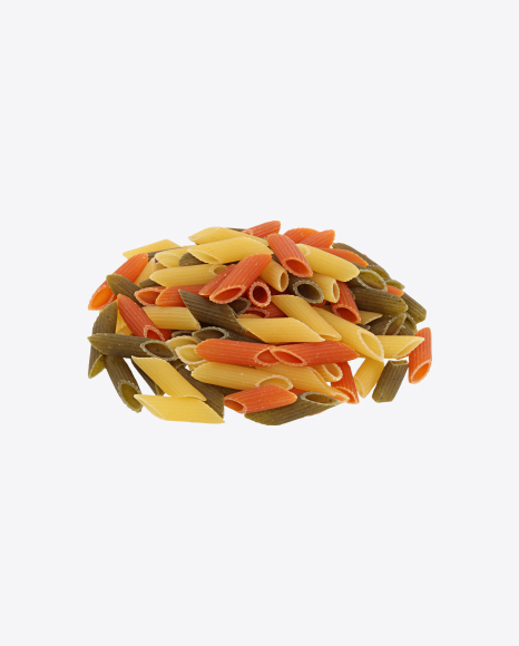 Colored Pasta Penne Bunch