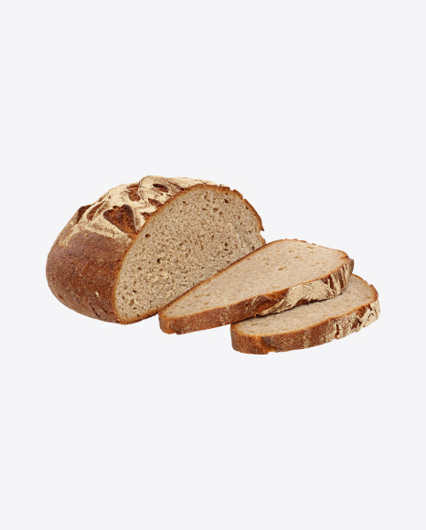 Half of Round Bread and Slices