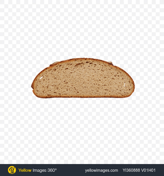 Download Round Bread Slice Transparent PNG on Yellow Images 360°