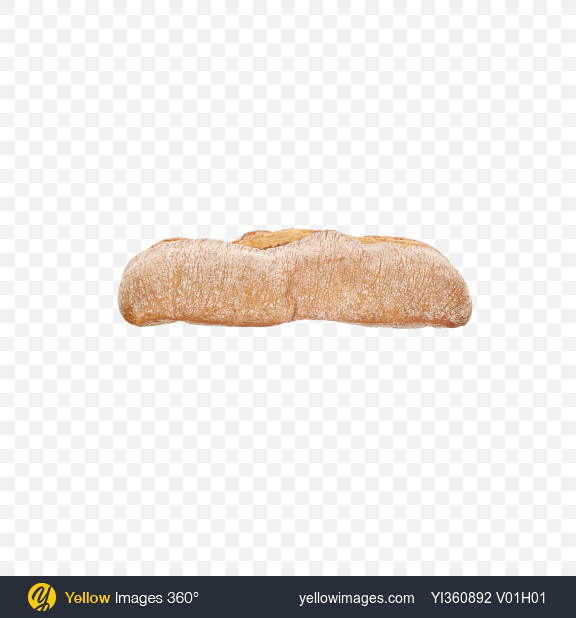 Download Ciabatta Bread Loaf Transparent PNG on Yellow Images 360°