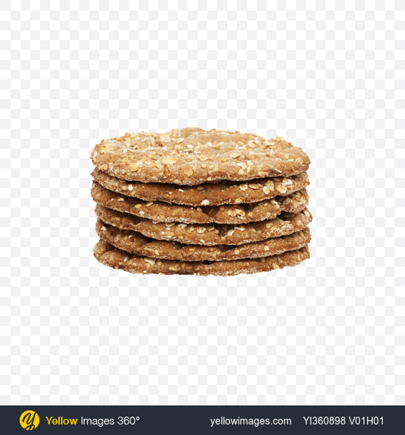 Download Multigrain Round Crispbread Stack Transparent PNG on Yellow Images 360°