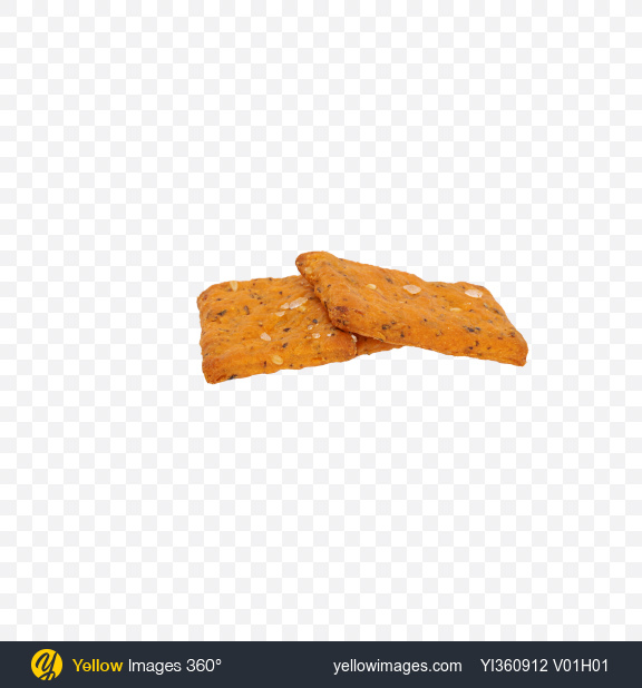 Download Three Tomato Crispbreads with Herbs Transparent PNG on Yellow Images 360°