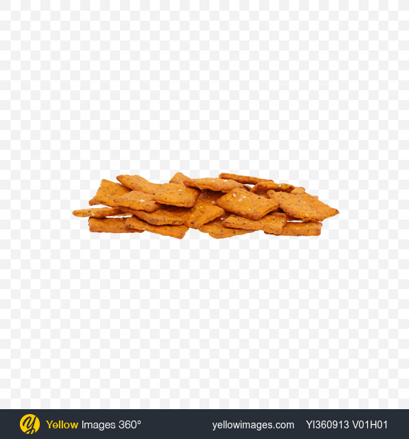 Download Tomato Crispbreads with Herbs Transparent PNG on Yellow Images 360°