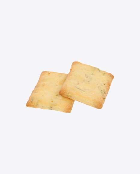Two Crispbreads with Herbs and Garlic