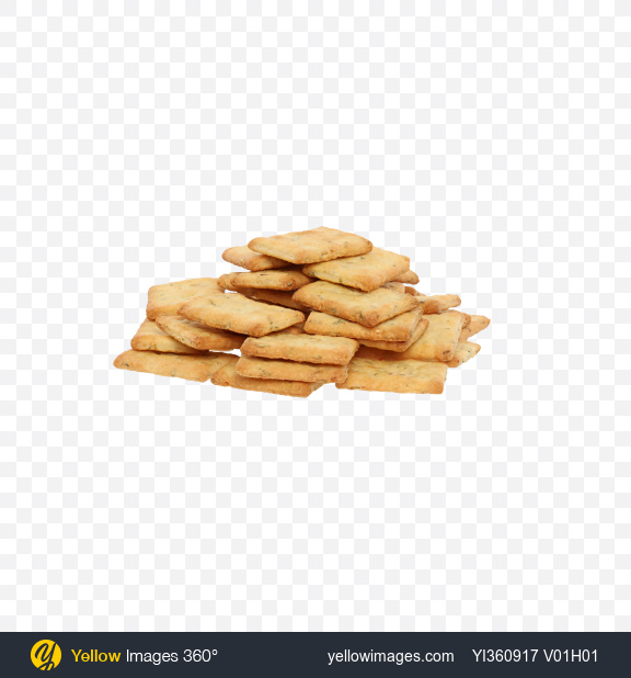 Download Crispbreads with Herbs and Garlic Transparent PNG on Yellow Images 360°