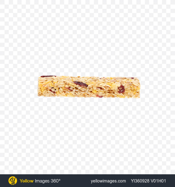 Download Cereals Bar with Cranberry Transparent PNG on Yellow Images 360°