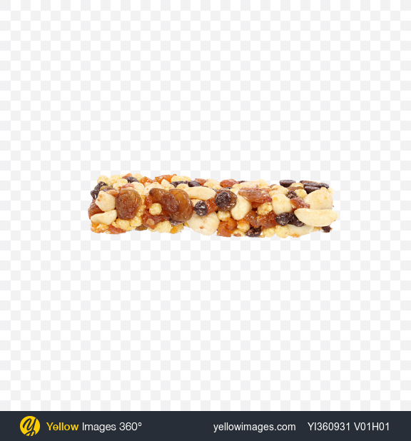 Download Peanuts Bar with Raisins and Dried Apricot Transparent PNG on Yellow Images 360°