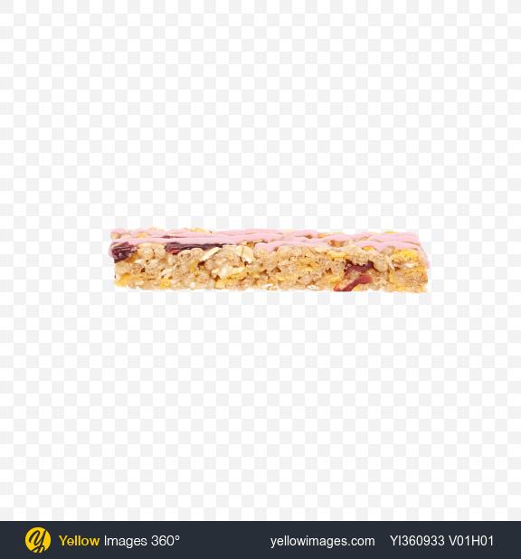Download Cereals Bar with Yogurt and Cherry Transparent PNG on Yellow Images 360°