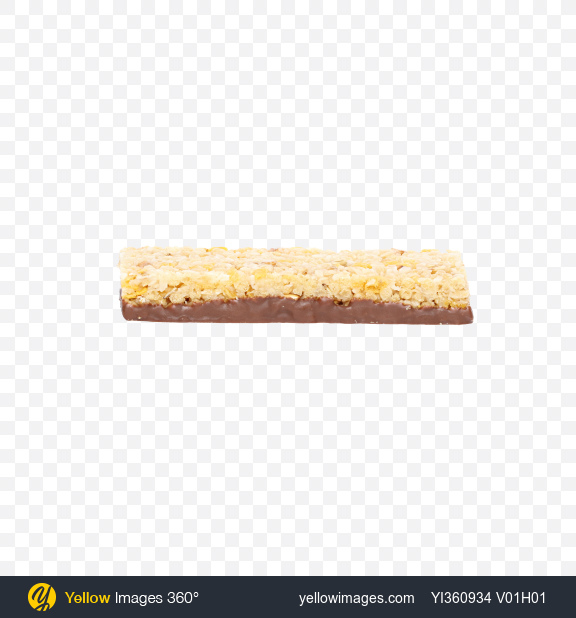 Download Cereals Bar with Chocolate and Coconut Transparent PNG on Yellow Images 360°