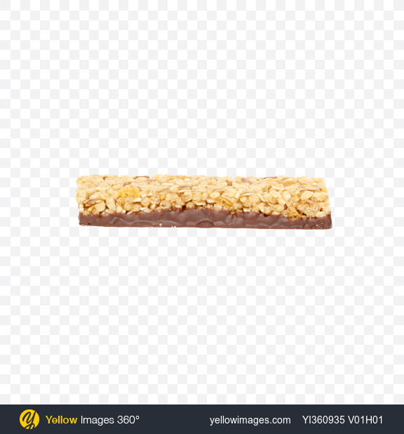 Download Cereals Bar with Milk Chocolate Transparent PNG on Yellow Images 360°