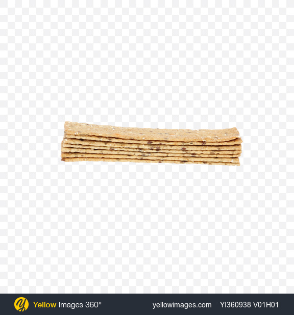 Download Stack of Crispbread with Olives and Garlic Transparent PNG on Yellow Images 360°