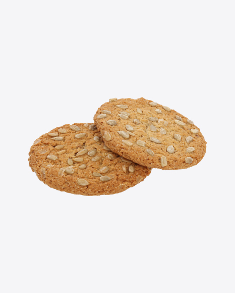 Two Oat Cookies with Sunflower Seeds