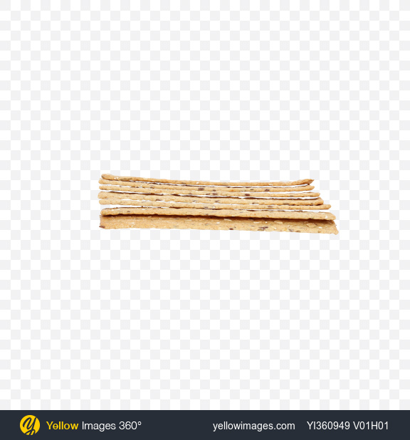 Download Seven Crispbreads with Olives and Garlic Transparent PNG on Yellow Images 360°