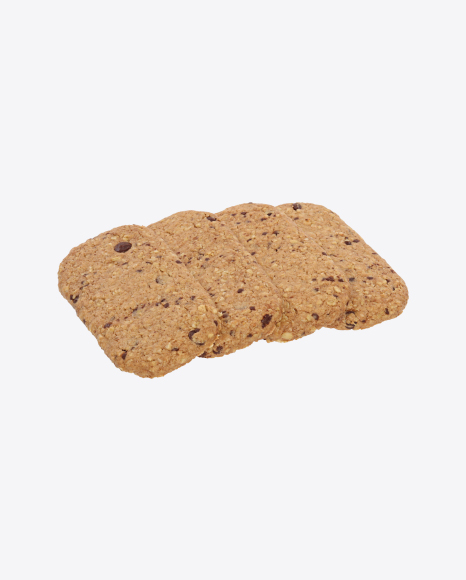 Four Oat Cookies with Chocolate