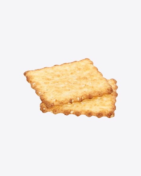 Two Crackers with Sesame Seeds