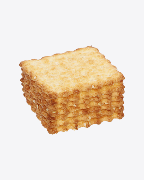 Stack of Crackers with Sesame Seeds