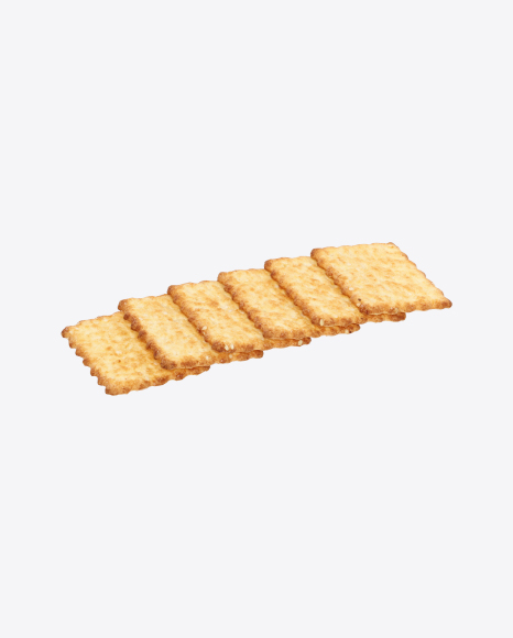 Six Crackers with Sesame Seeds