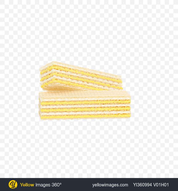 Download Two Wafers with Lemon Cream Transparent PNG on Yellow Images 360°