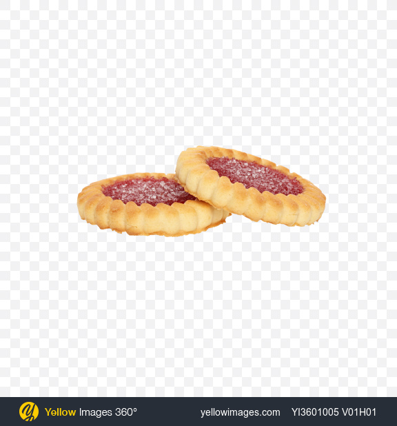 Download Two Cherry Marmalade Cookies Transparent PNG on Yellow Images 360°