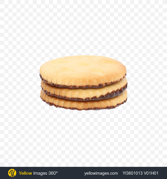 Download Stack of Cookies with Chocolate Transparent PNG on Yellow Images 360°