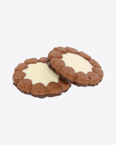 Two Chocolate Cookies with Vanilla Cream