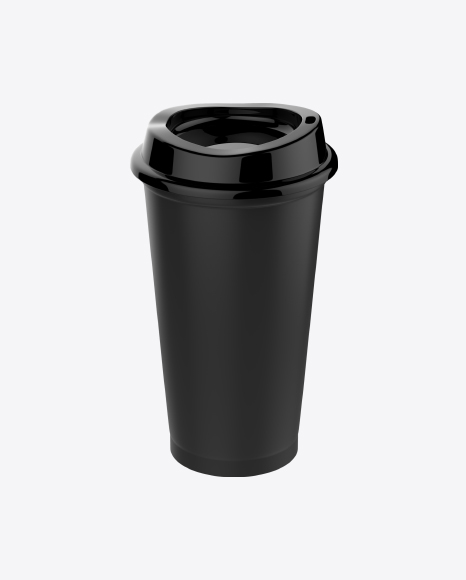 Black Coffee Cup with Lid