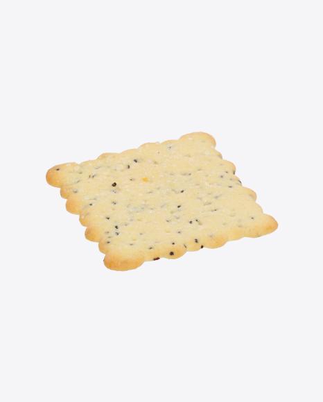 Cracker with Poppy Seeds