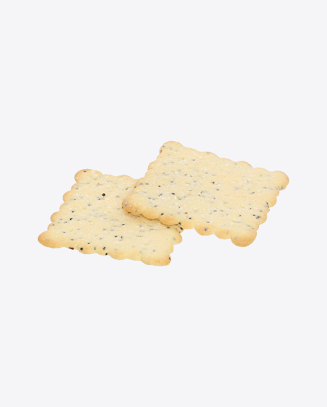 Two Crackers with Poppy Seeds